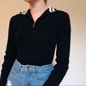 2/$30 CHAPS quarter zip pullover sweater